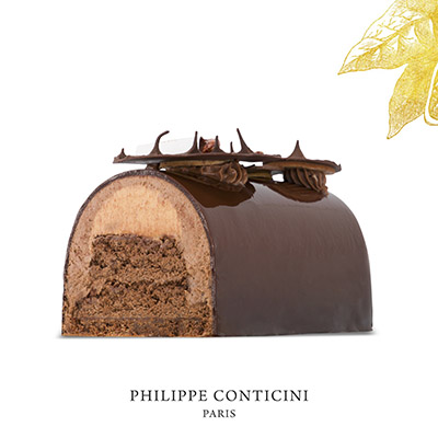 Bûche de Noël chocolat de Philippe Conticini