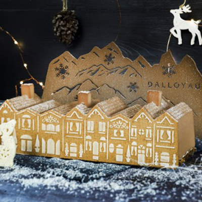 Bûche de Noël sablée de Dalloyau