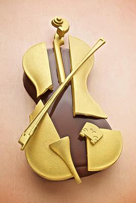 Bûche de Noël violon de Christophe Michalak