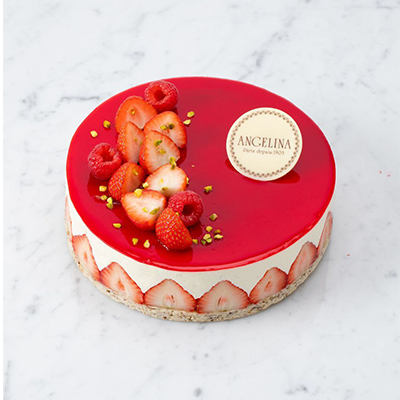 Livraison fraisier d'Angelina