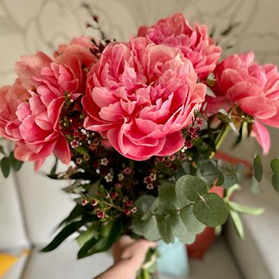 Livraison de fleurs pour la fête des Mères
