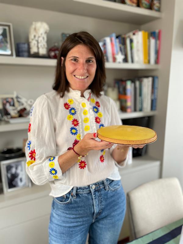 Amandine Lugnier et la fameuse tarte au citron Maison Mulot