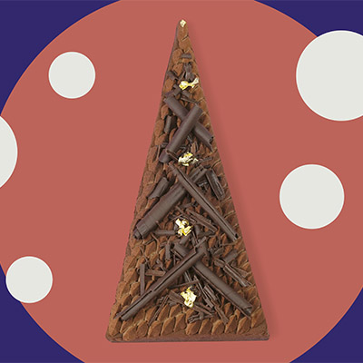Bûche de Noël sapin de Marjorie Foucade